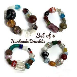 NWOT Beautiful One Of Kind Glass Bead Bracelet